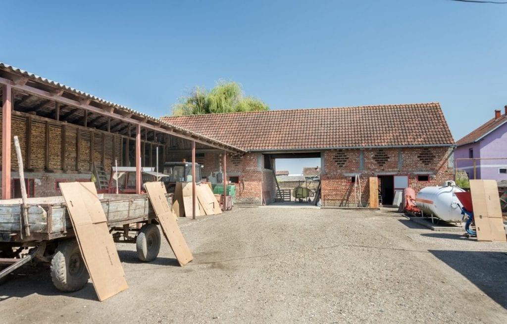 Image showing stables and yard.