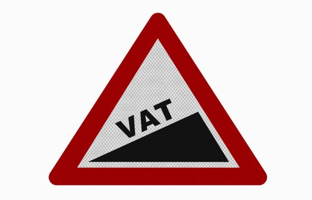 VAT warning sign (c) Shutterstock