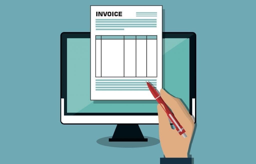 Digital invoice (c) Shutterstock